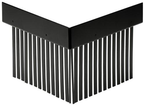 Solarprofiel Buitenhoek  25x45mm 200x200 RAL 9M05