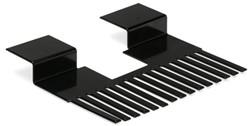 Solarprofiel passtuk  25x45mm RAL 9M05 L=195mm