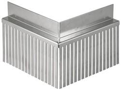 Solarprofiel Binnenhoek  25x45mm 200x200 brute