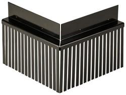Solarprofiel Binnenhoek  25x45mm 200x200 RAL 9M05