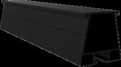 Trapezium Montagerail Zwart (L=2100mm)