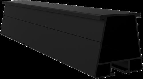 Trapezium montagerail zwart 4200mm