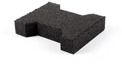 Rubber level bloc dimension 195x160x43mm