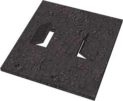Rubberstrook 200x180x8 mm